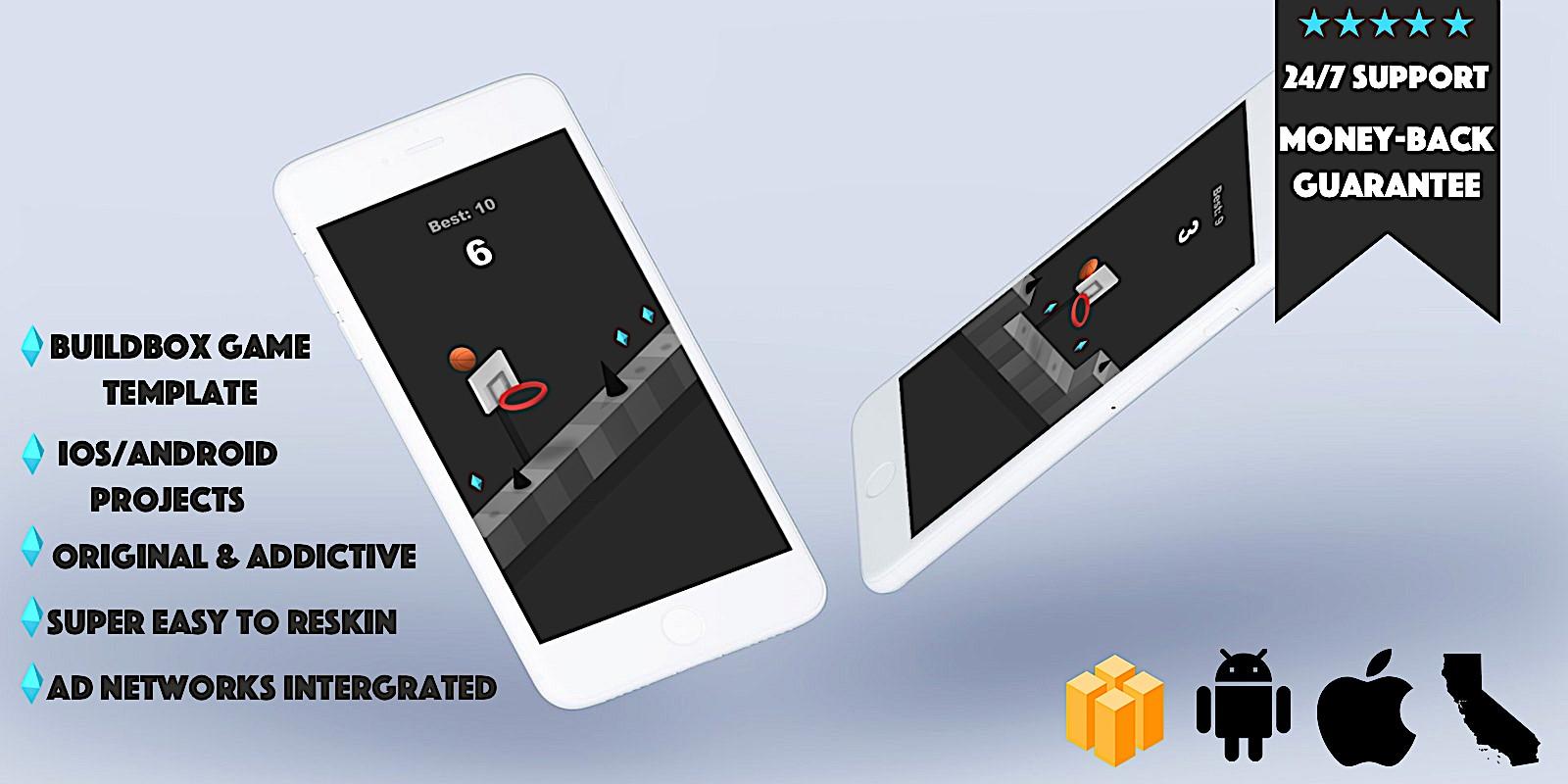 Jump Shot - Buildbox Template