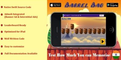 Barrel Bag Game - iOS Source Code