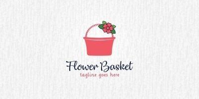 Flower Basket - Logo Template