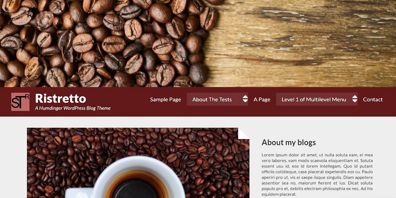 Ristretto - WordPress Blog Theme