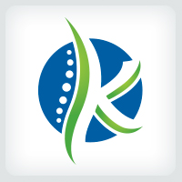 Letter K Spine - Chiropractic Logo