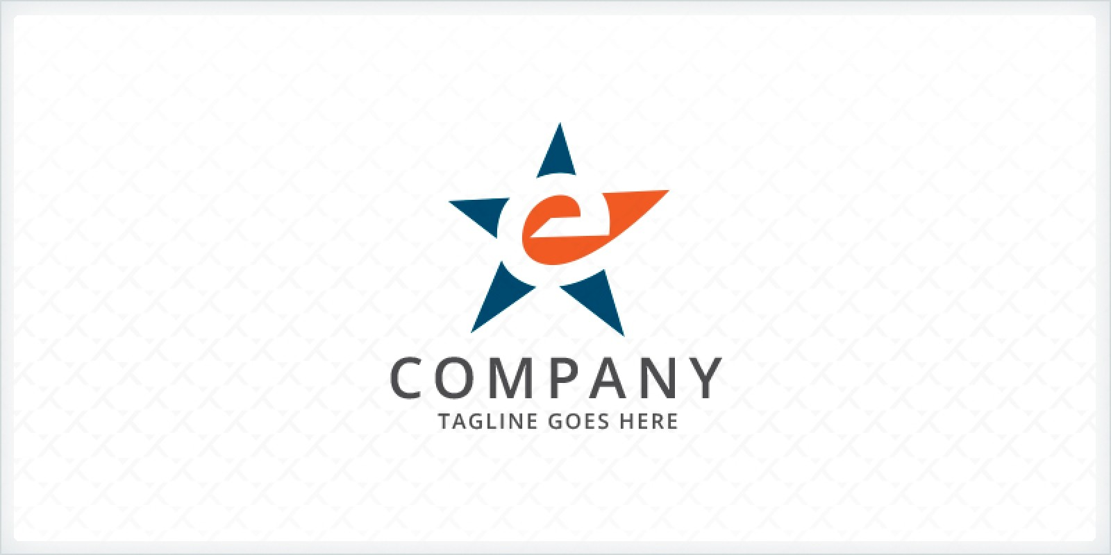 Letter E - Star Logo