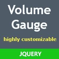Volume Gauge jQuery Plugin