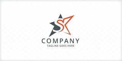 Letter S - Star Logo