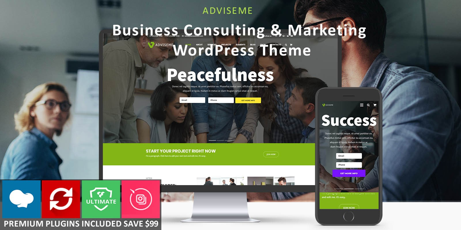 Adviseme - Consulting Business WordPress Theme
