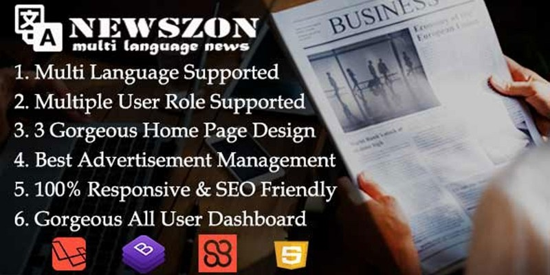 Newszon - News Site PHP Script