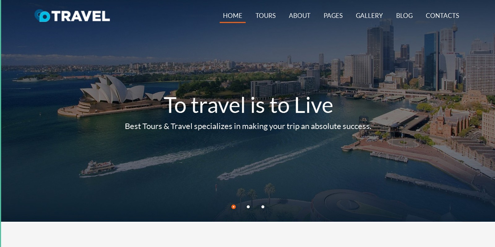 Travel – Agent And Tour Booking HTML5 Template