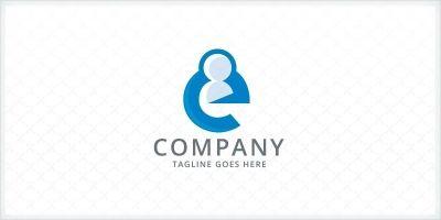 Letter E - People Logo
