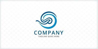 Stylized Wave Logo