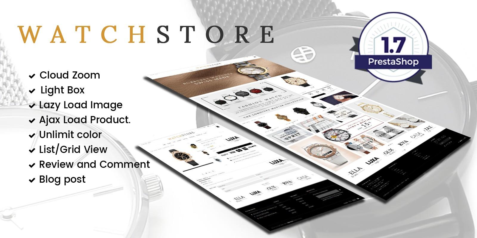 Watch And Accessories Store Prestashop Theme