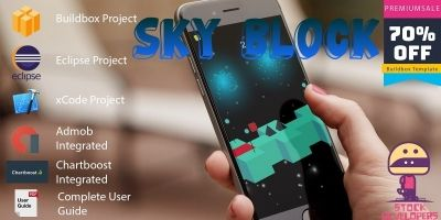 Sky Block - Buildbox Template