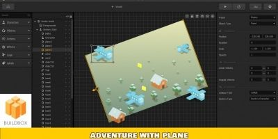 Adventure With Plane - Buildbox Template