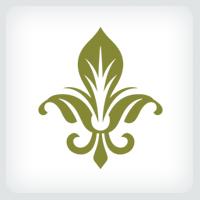 Stylized Fleur De Lis Logo