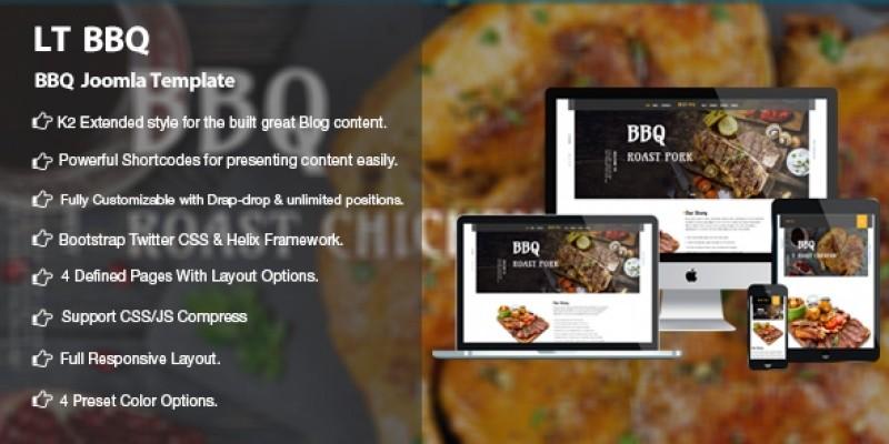LT BBQ - Premium Barbecue Joomla Template