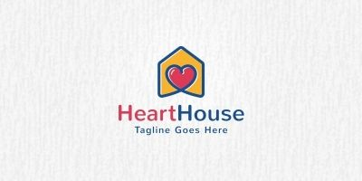 Heart House Logo Template