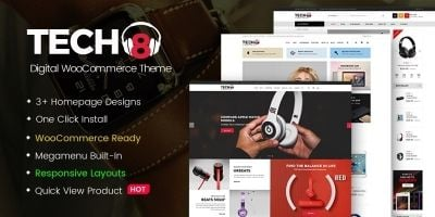 Tech8 - Digital WooCommerce Theme