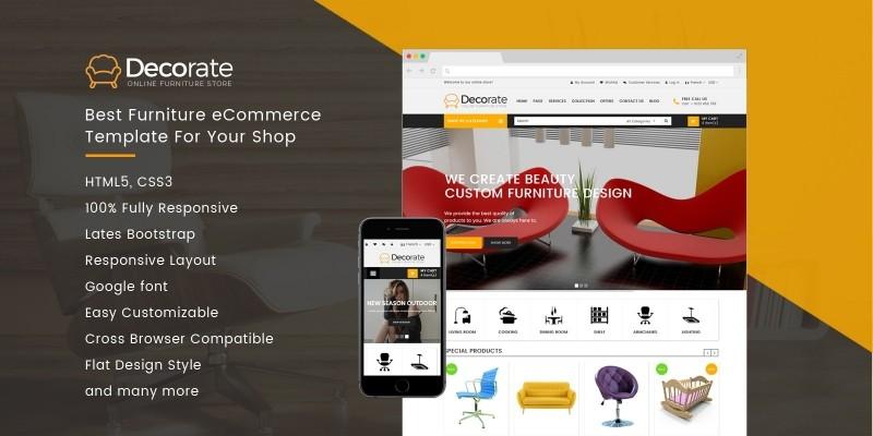 Decorate - Furniture eCommerce Shop