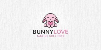 Bunny Love Logo Template