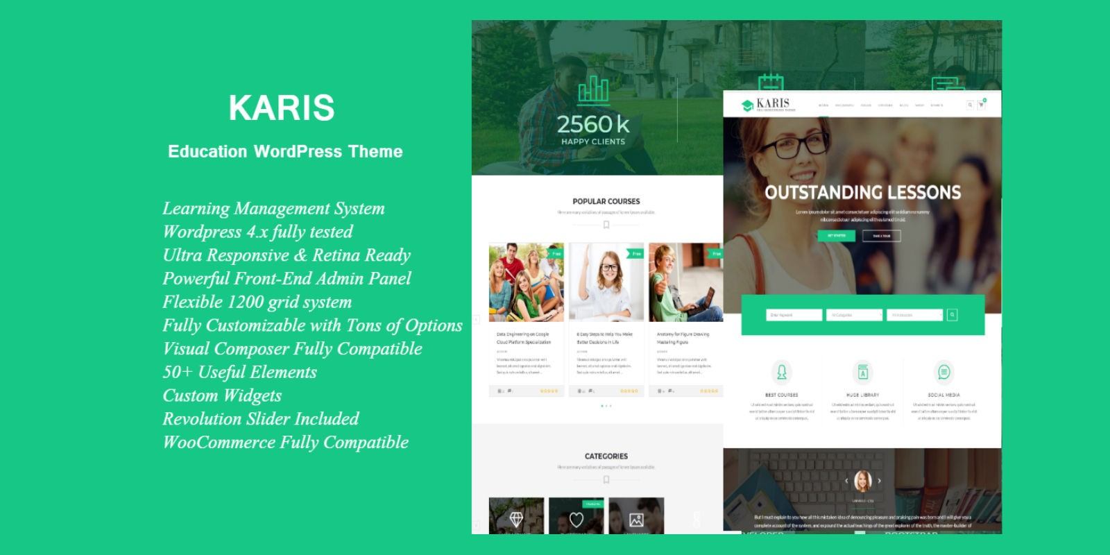 Karis - Education WordPress Theme