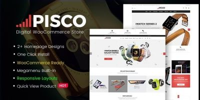 Pisco - Responsive Digital WooCommerce Theme
