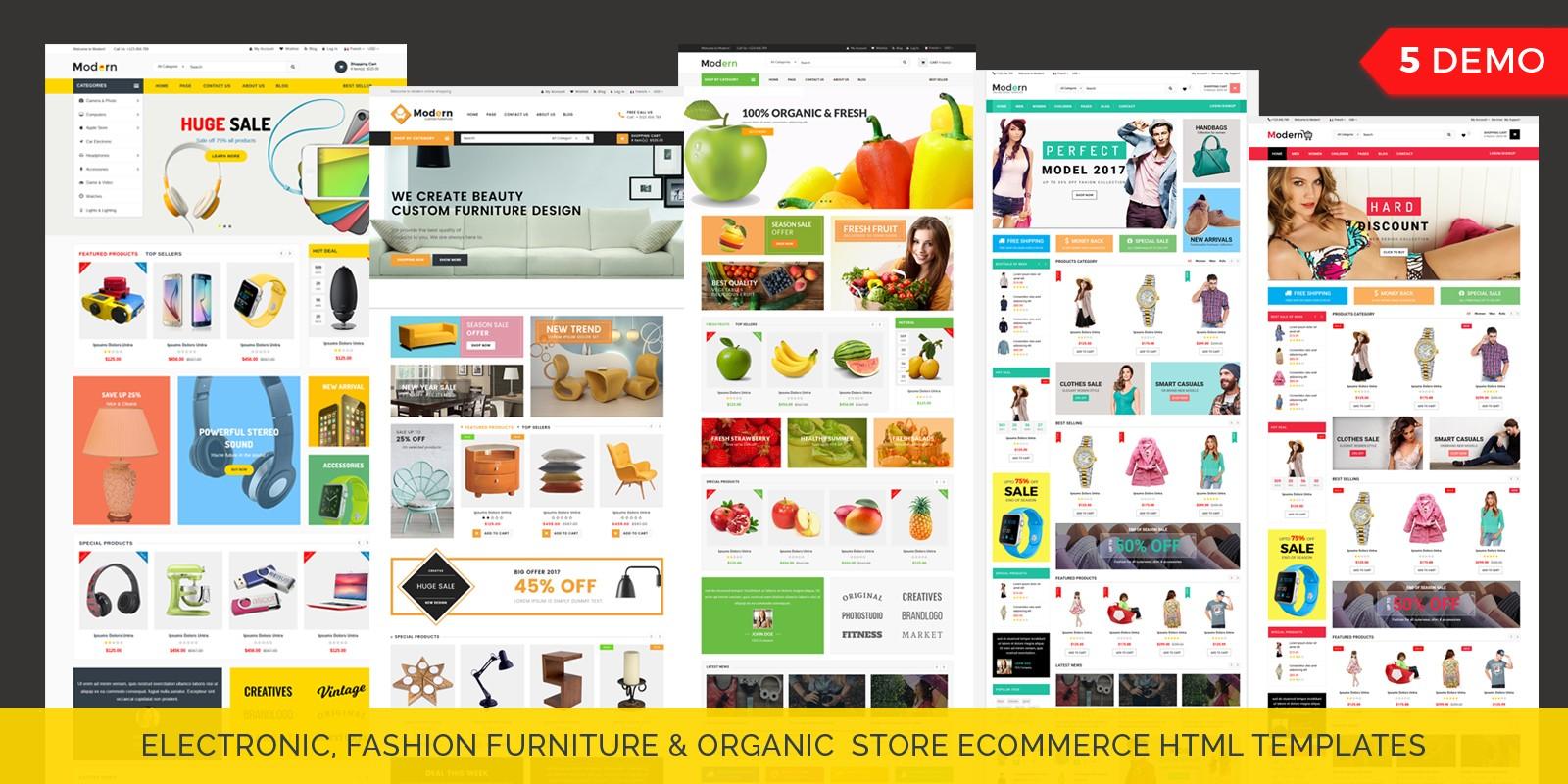 Modern - Multipurpose Website Template