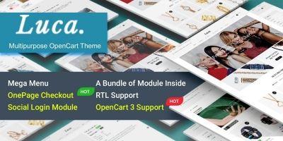 Luca - Responsive Multipurpose OpenCart 3 Theme