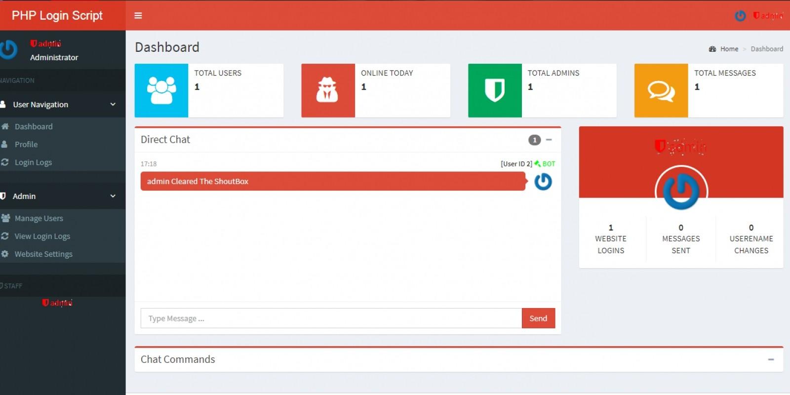 Secure PHP And AJAX Login Script