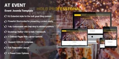 AT Event – Responsive Conference Joomla Template