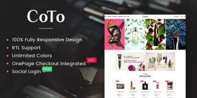 Coto - The Cosmetic eCommerce OpenCart Theme