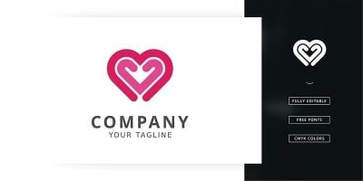 Double Love Logo Template
