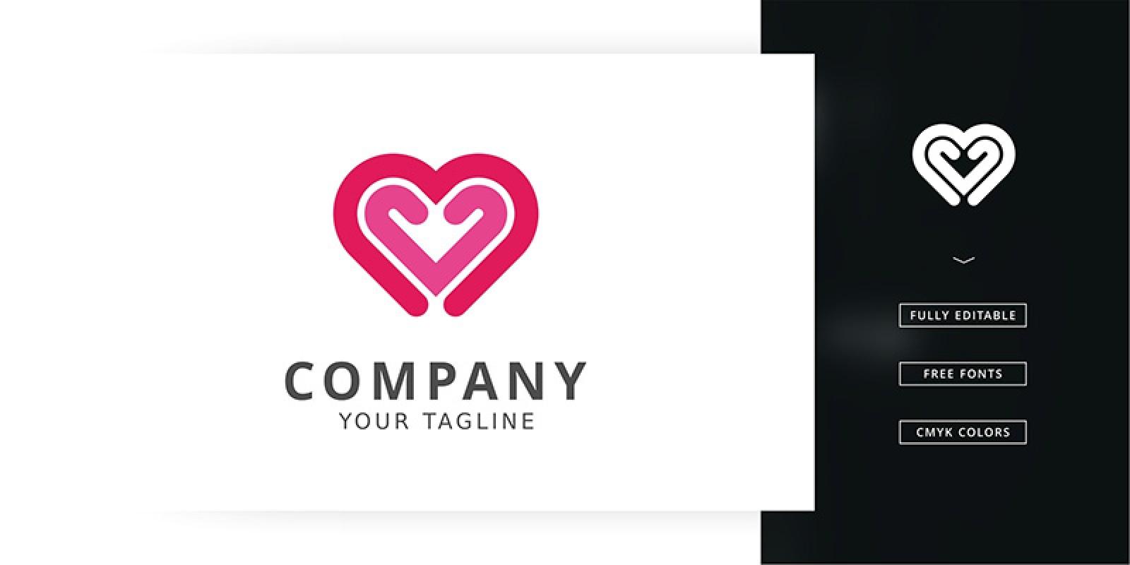 Double Love Logo Template
