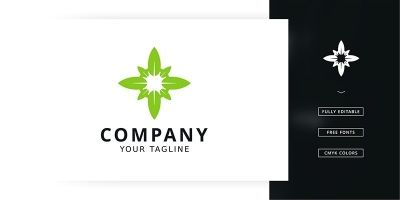 Leaf Compass Logo Template