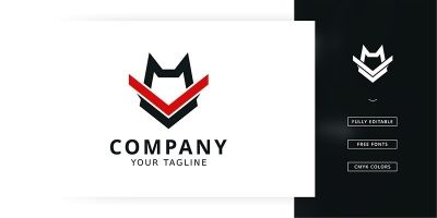 Wolf Training Logo Template