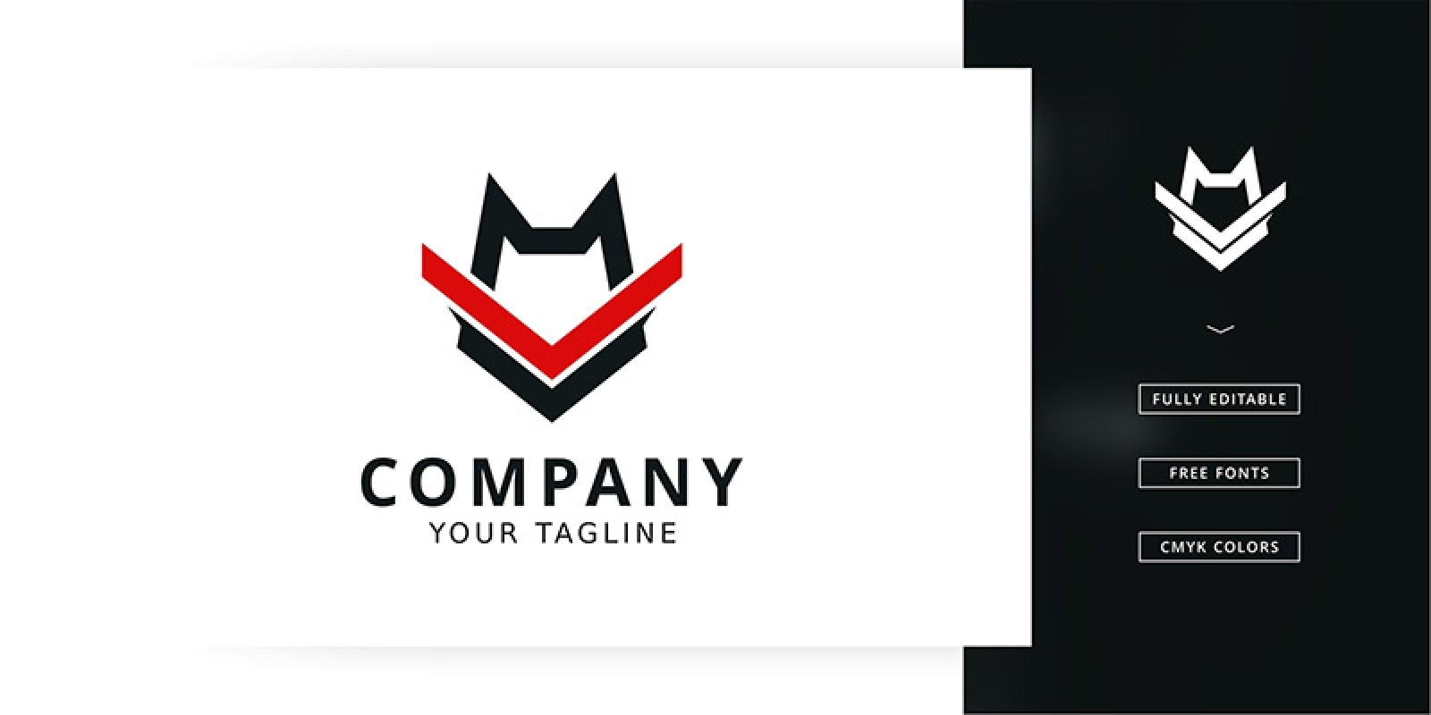 Wolf Training Logo Template