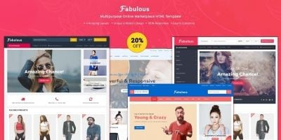 Fabulous - Multipurpose eCommerce HTML Template