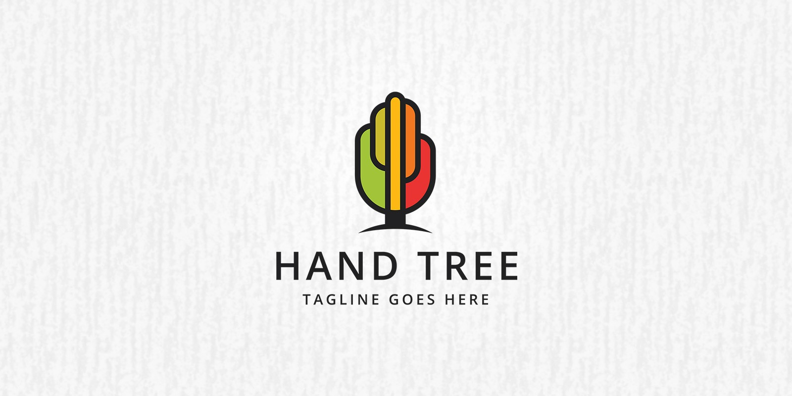Hand Tree Logo Template