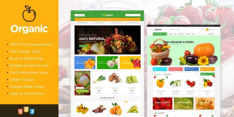 Organic - Food And Restaurant Website Template