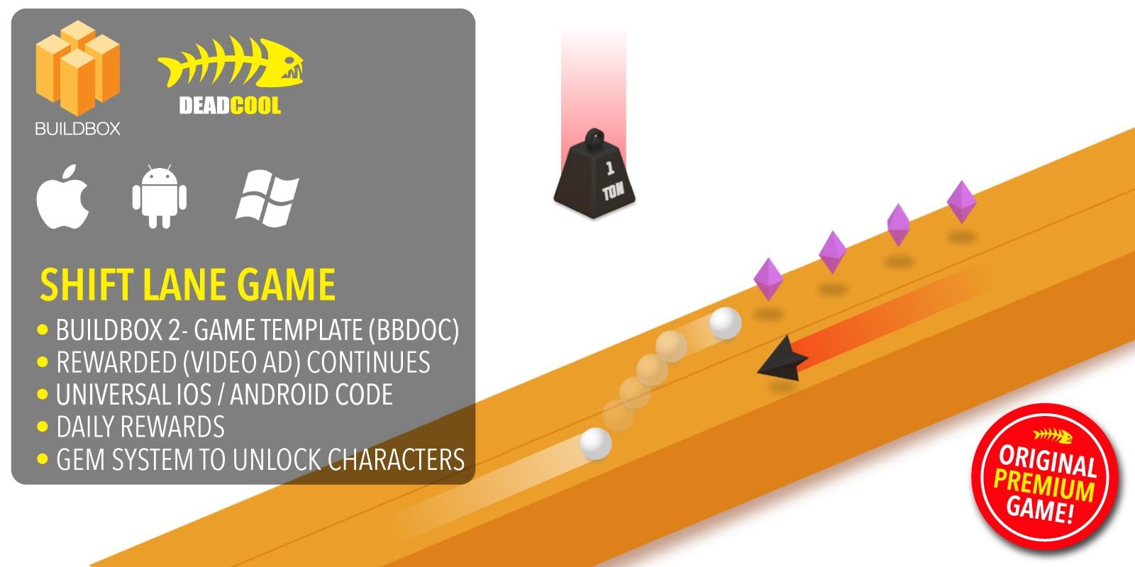 Shift Lane - BuildBox 2 Game Template