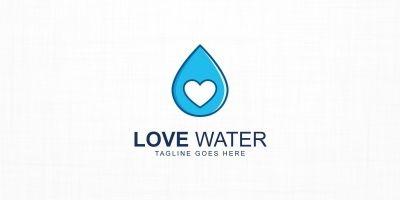 Love Water Logo Template
