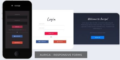 Auriga - Bootstrap HTML Forms
