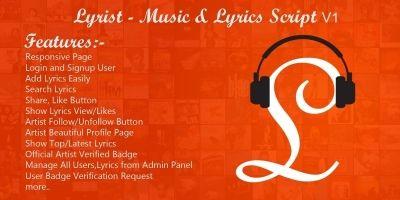 Lyrist - Music Lyrics Script