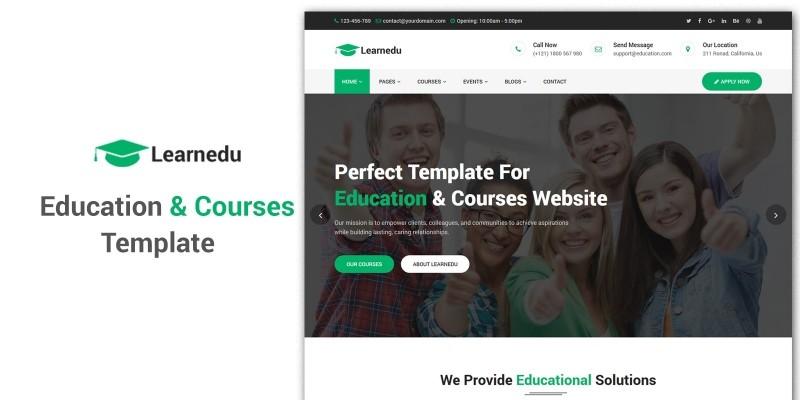 Learnedu - Education Courses HTML5 Template