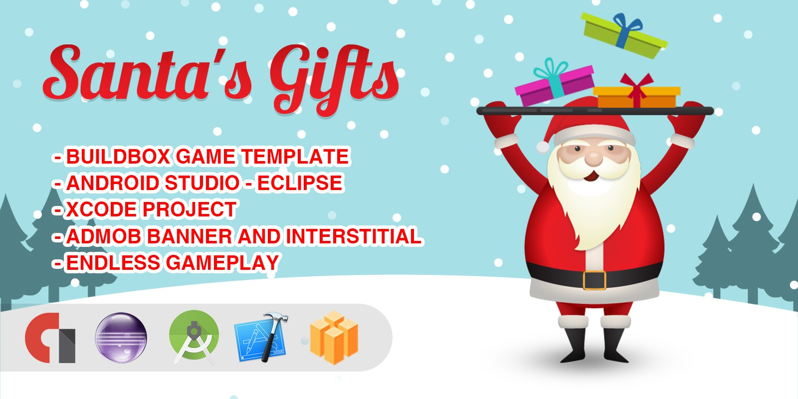 Santas Gifts - Buildbox Game Template