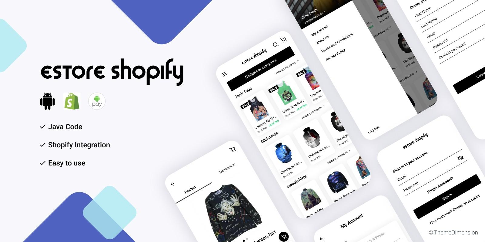 eStore Shopify - Android App Source Code