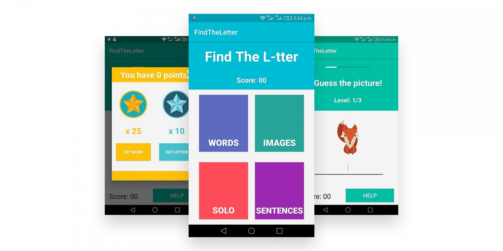 Find The Letter - Android Kids Source Code