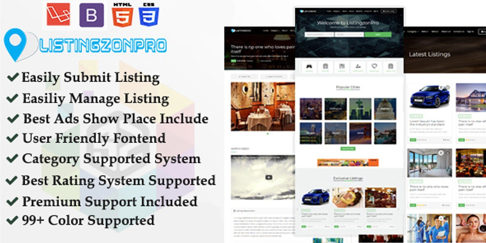 ListingzonPro - Classified Ads Listing Directory