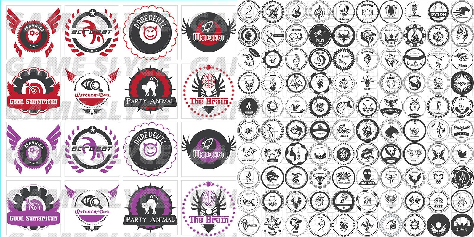 Achievement Seals 114 Icons Pack