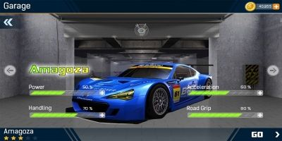 Racing Car Game UI Template Pack 5
