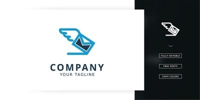 Flying Mail Logo Template