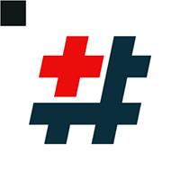 Hastag Plus Logo Template